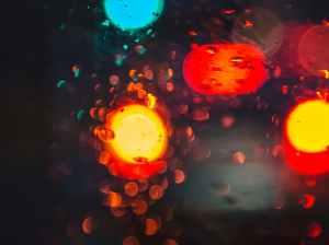 car blur rain window